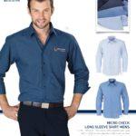 Biz Collection – Micro Check Long Sleeve Shirt – MEN