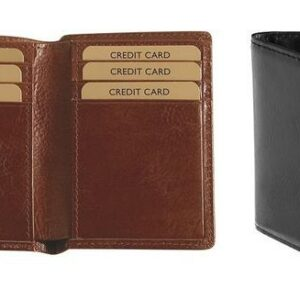 buy Adpel Italian Leather Two Fold Business Card Holder