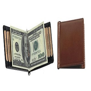 buy Adpel Italian Leather Money Clip Holder