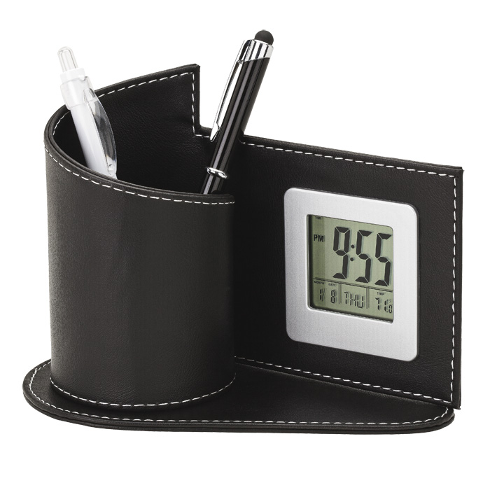 buy Digital Clock with Pen Holder