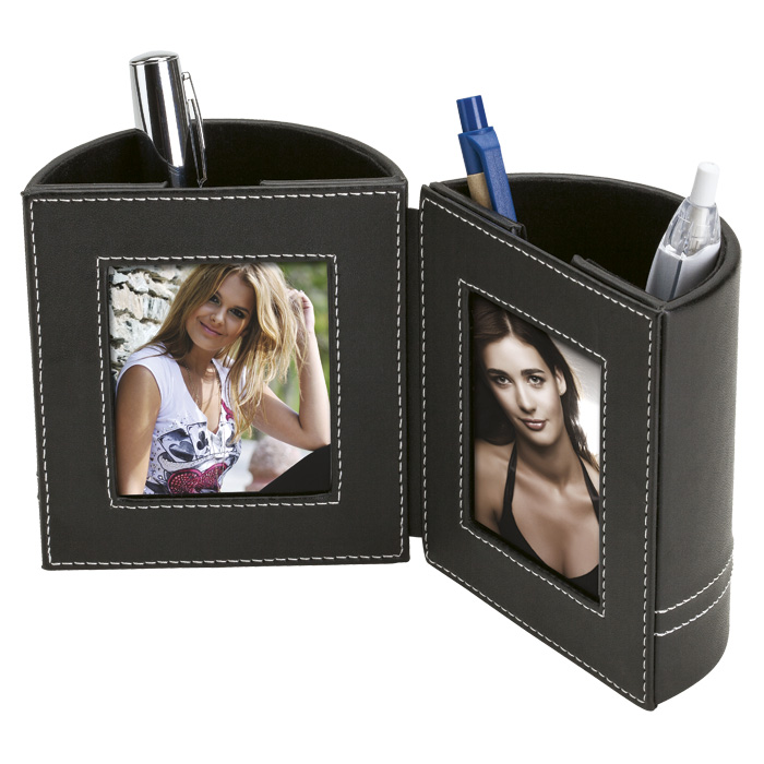 buy Dual Pen Holder with 2 Photo Frames