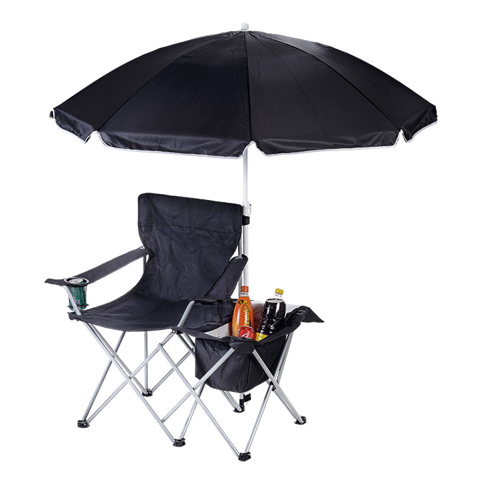 buy Camping Chair with Umbrella and Cooler