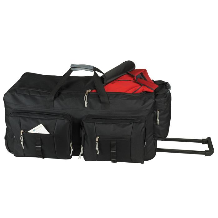 buy Dual Front Pocket Rolling Travel Duffel
