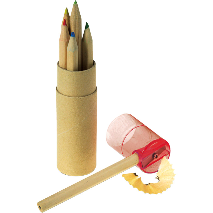 buy Coloured Pencil Set with Sharpener - Set of 6