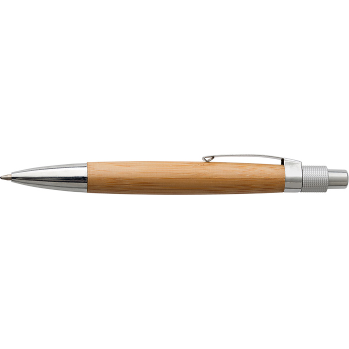 buy Bamboo Ballpoint Pen with Metal Clip