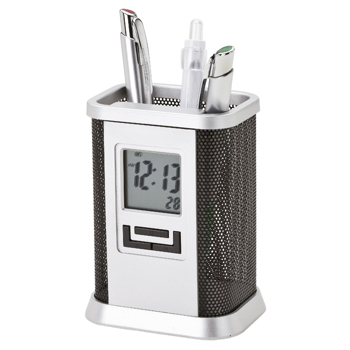 buy Desktop Pen Stand with Alarm Clock