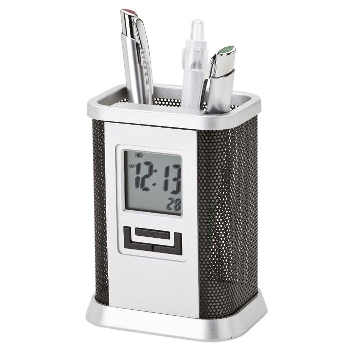buy Desktop Pen Stand with Alarm Clock