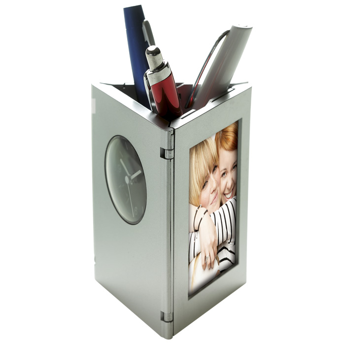 buy Folding Photo Frame, Clock and Pen Holder