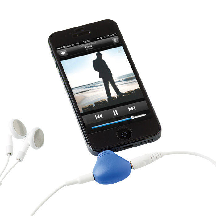 buy 2 in 1 Phone Stand with Earphone Splitter