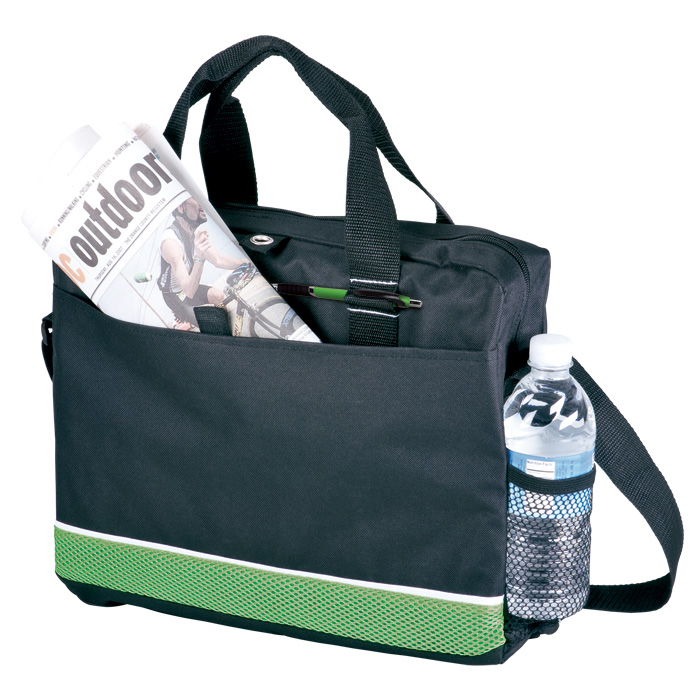 buy Conference Bag with Mesh Side Pocket - 600D and Sandwich Mesh