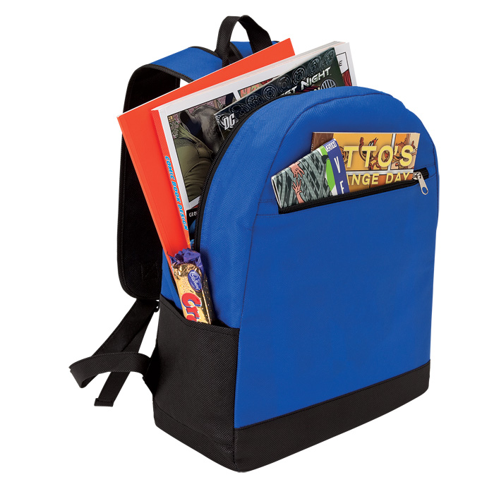 buy Backpack with Front Zip Pocket - Non-Woven