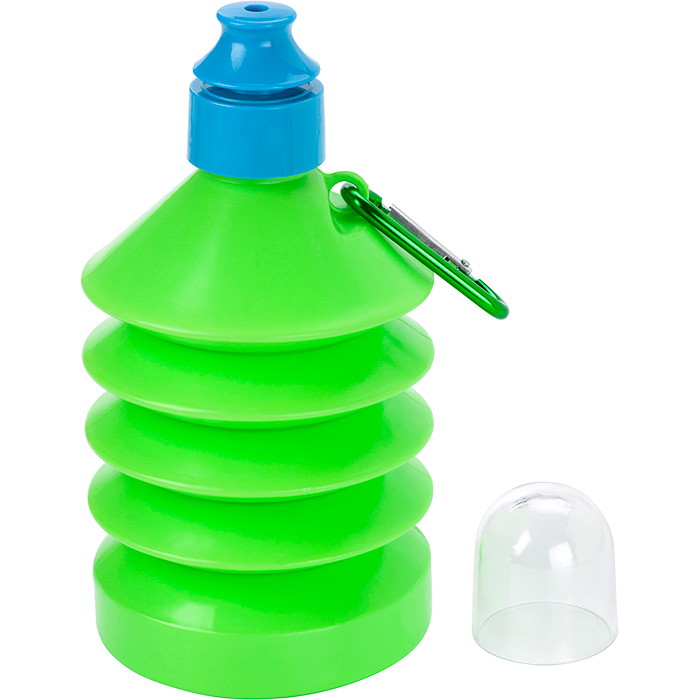 buy 600ml Collapsible Water Bottle with Carabiner Clip