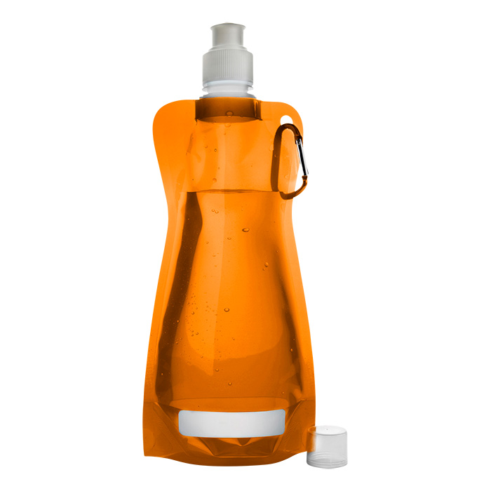 buy 420ml Foldable Water Bottle with Carabiner Clip