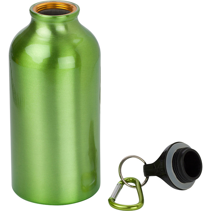 400ml Aluminium Water Bottle with Carabiner Clip
