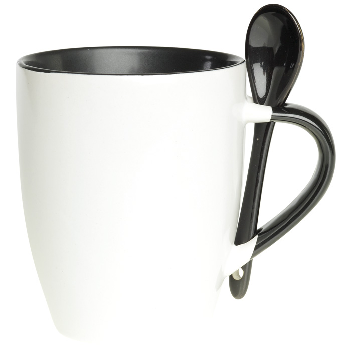 buy 345ml Ceramic Mug with Spoon