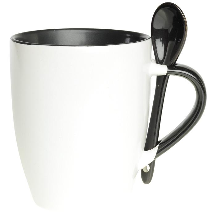 buy 345ml Ceramic Mug with Spoon