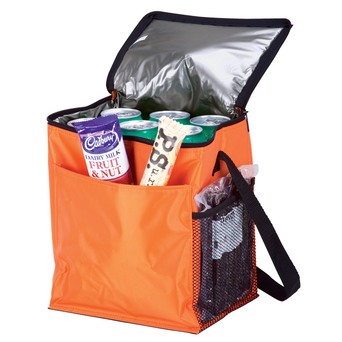 buy 12 Can Cooler with 2 Exterior Pockets - 70D - PEVA Lining