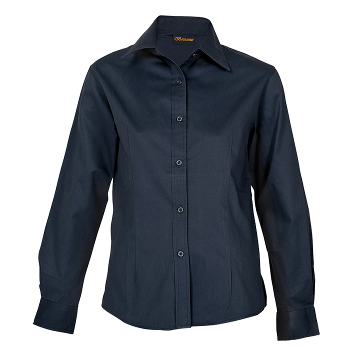 buy Ladies Brushed Cotton Twill Blouse Long Sleeve