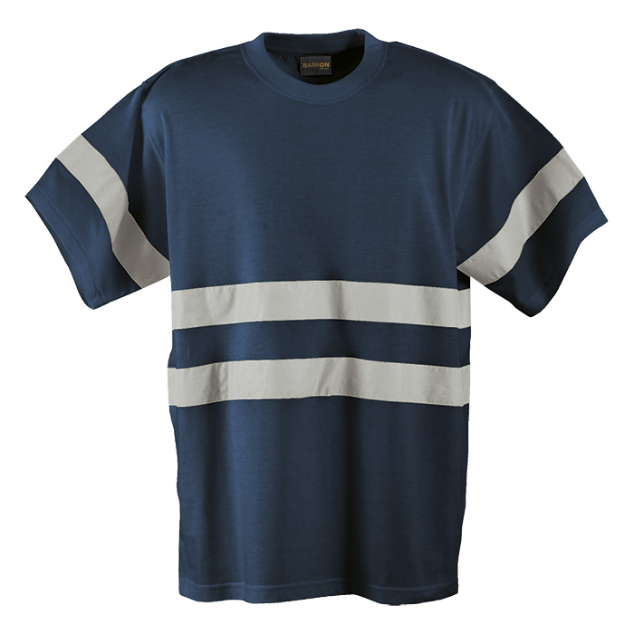 buy 150g Poly Cotton Safety T-Shirt with Tape