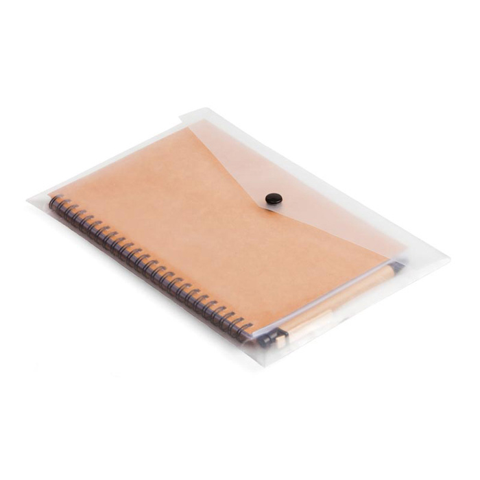 buy A5 Eco Notebook & Pen in Clear Sleeve