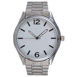 buy Ebony Silver Metal Watch