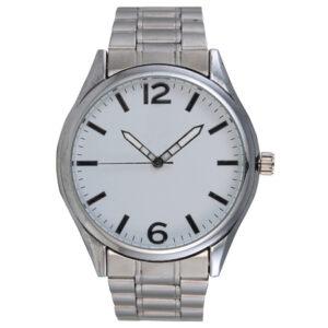 buy Ebony Silver Metal Watch