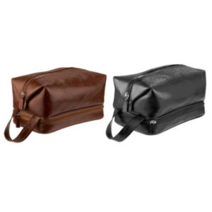 buy Adpel Italian Leather Toiletry Bag