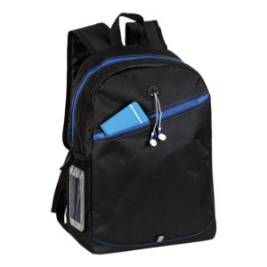 buy Backpack with Contrast Colour Diagonal Zip