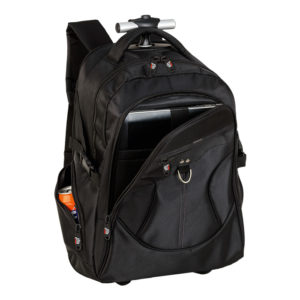 buy Dual Fabric Rolling Laptop Backpack
