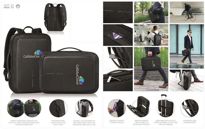 XD Design Bobby Bizz Anti-Theft Backpack & Briefcase