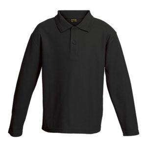 Kiddies 175g Pique Knit Long Sleeve Golfer buy
