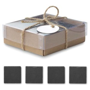 buy 4 Piece Slate Coaster Set