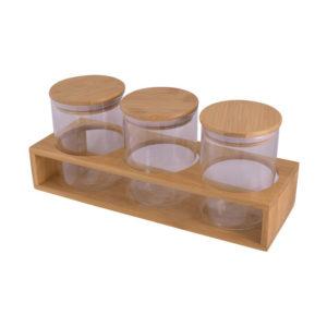 buy 3-Piece Storage Jars & Stand