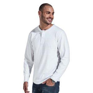 buy 145g Henley Long Sleeve T-Shirt