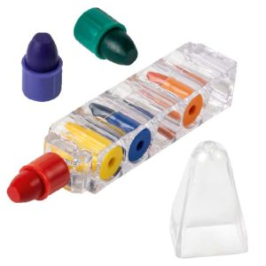 buy 6 Wax Crayons in Transparent Case