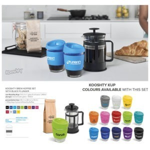 buy Kooshty Brew Koffee Set & Black Plunger