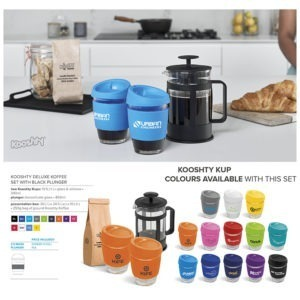 buy Kooshty Deluxe Koffee Set & Black Plunger