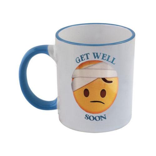 Emoji Hot Drink Mug Blue