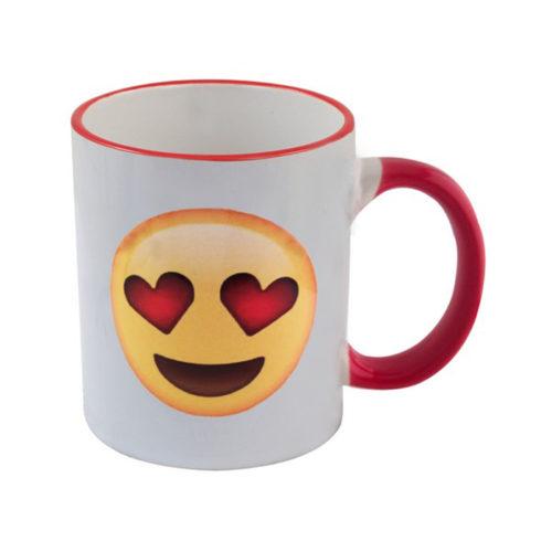Emoji Hot Drink Mug Red