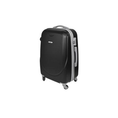 Branded travel suitcase black