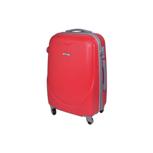 Branded travel suitcase red