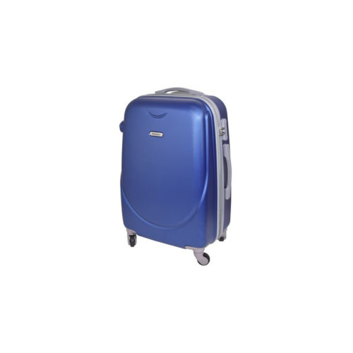 Branded travel suitcase blue