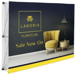 buy Legend Double-Sided Straight Banner Wall - 1.52m x 2.25m