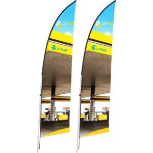 buy Legend 2m Arcfin Single-Sided Flying Banner (Set of 2)