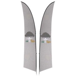 buy Legend 3m Arcfin Double-Sided Flying Banner