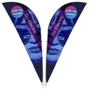 buy Legend 3m Sharkfin Double-Sided Flying Banner