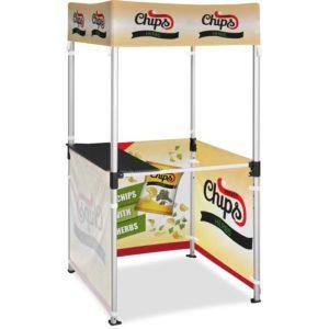 buy Ovation Gazebo 1m x 1m Kiosk - 3 Half-Wall Skins