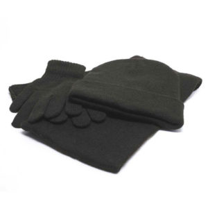 buy Knitted Gloves, Scarf & Beanie Set